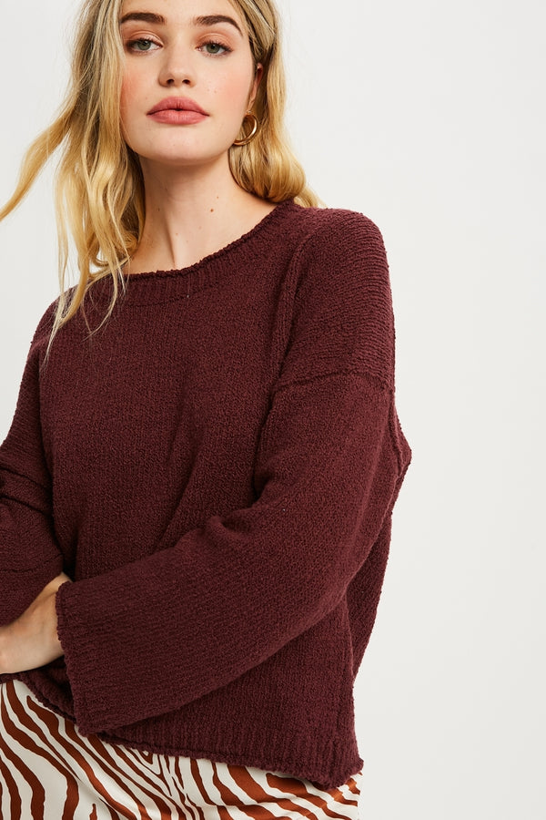 Cozy Day Dream Sweater Merlot