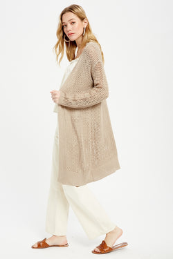 All Summer Long Cardigan Mocha