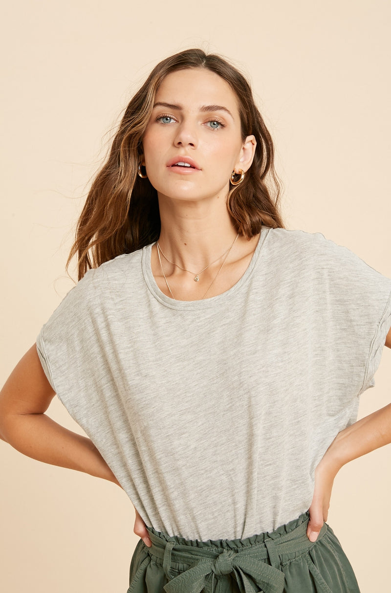 Rusty Muscle Tee Heather Grey