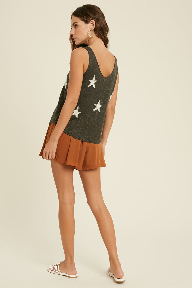 Star Gaze Top Charcoal