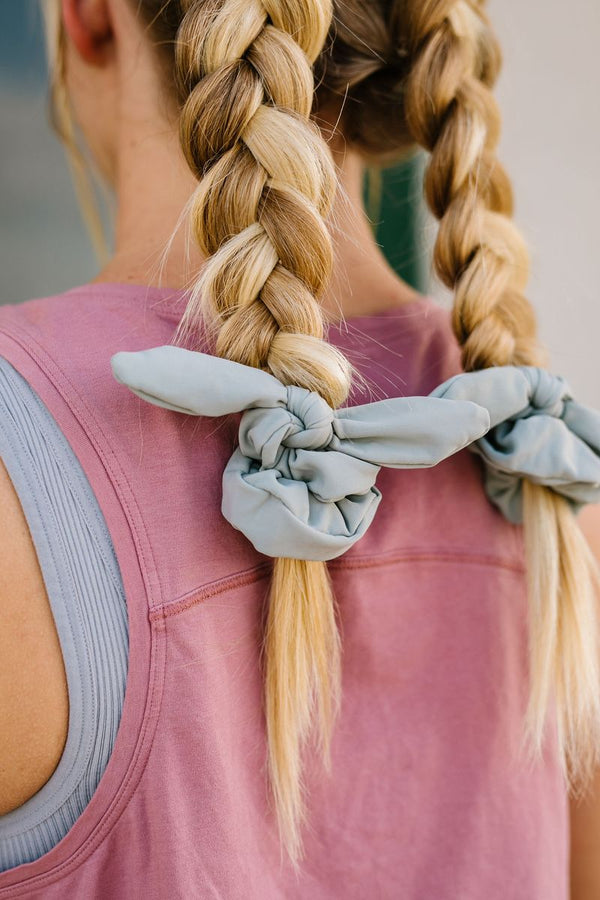 Iron Athletic Scrunchie