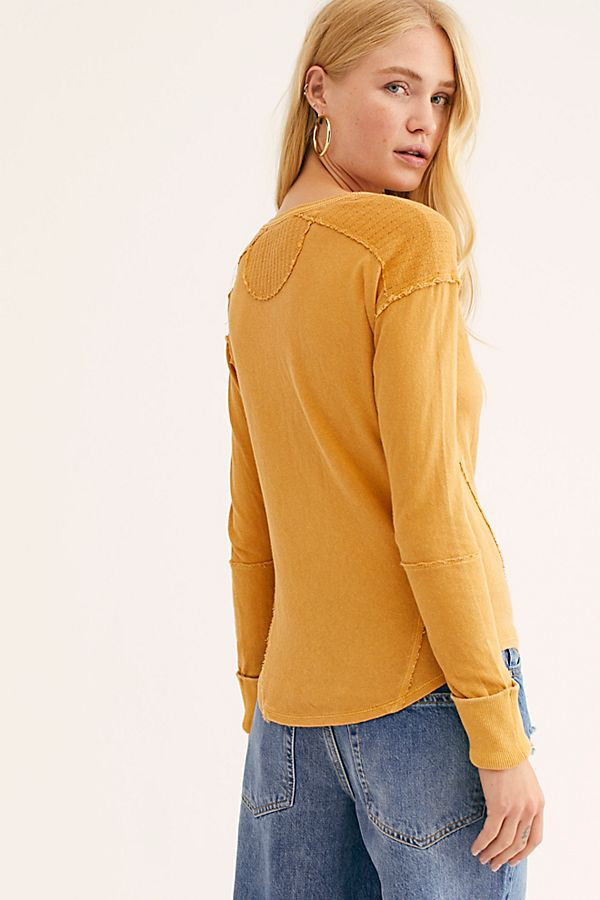 Military Mix Henley Mustard