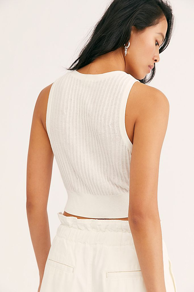 Saturday Morning Crop Top Ivory