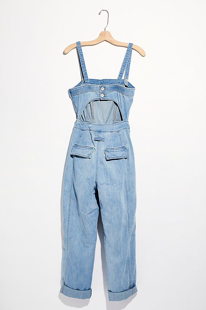Go West Denim Jumpsuit Blue