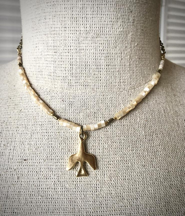 Mother Of Pearl Necklace Dove