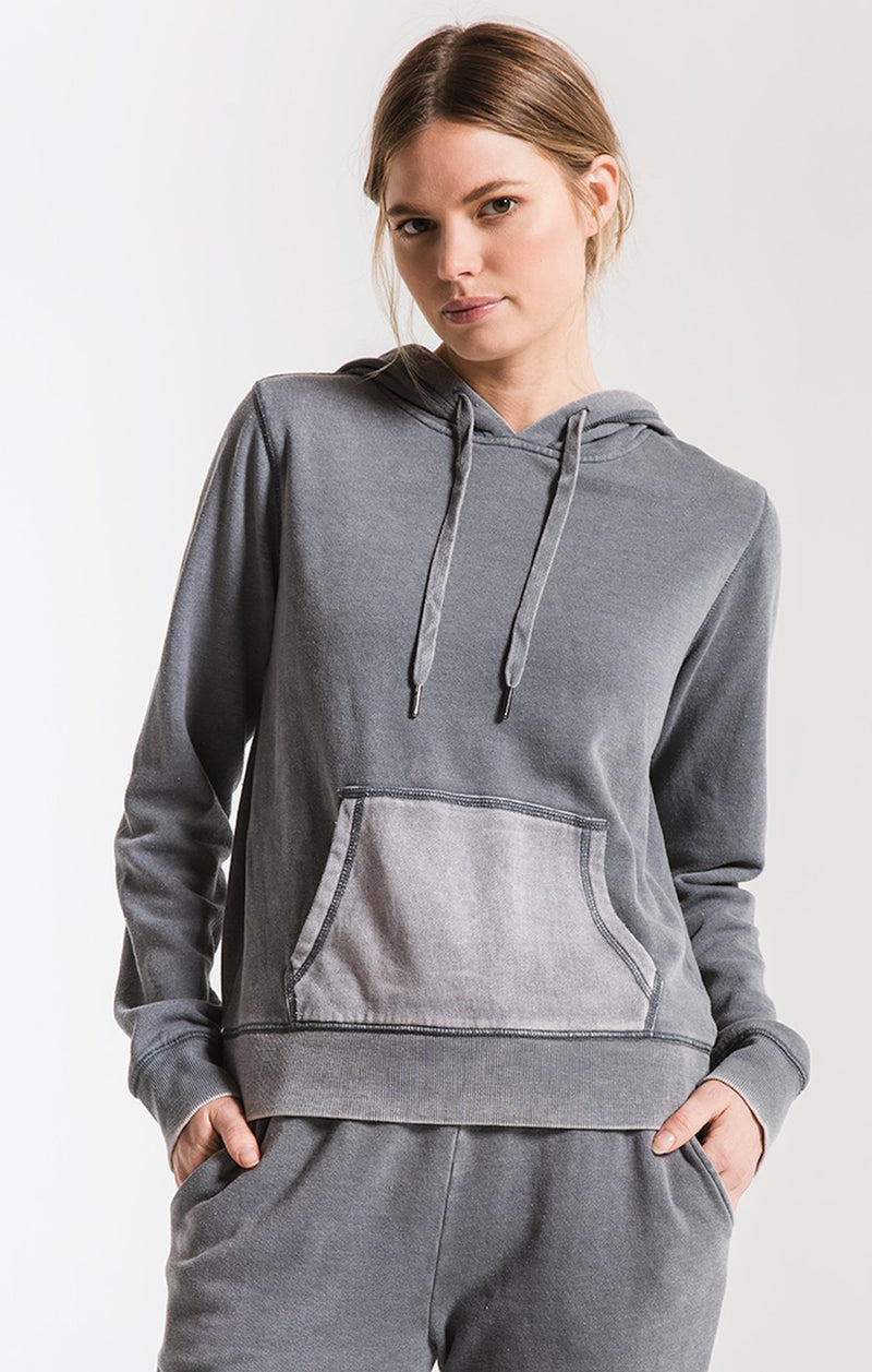 The Faded Wash Hoodie Storm Grey