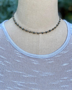 Beaded Chain Choker Pyrite