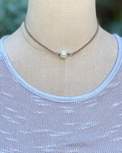Single Bead Necklace Pearl