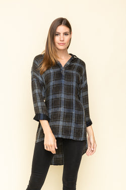Plaid With My Heart Top Black