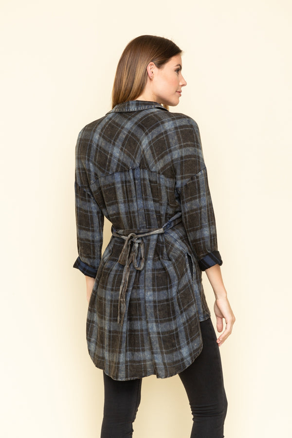 Plaid With My Heart Top Black (3835400781877)