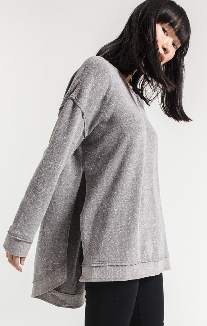 The Triblend Vacay Pullover Heather Grey