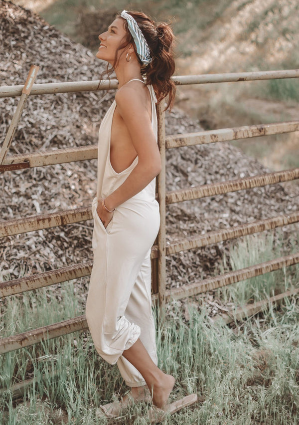 Florence Jumpsuit Stone