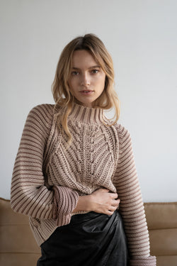 Sweetheart Sweater Taupe