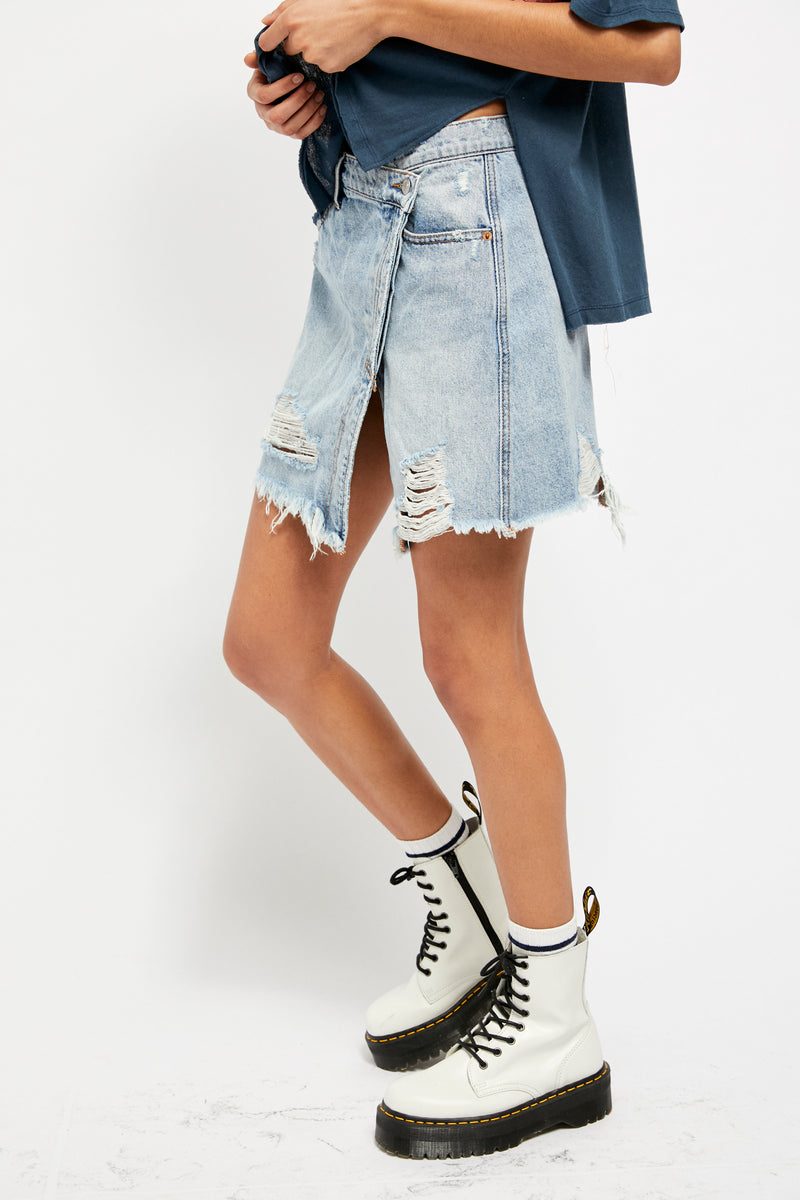 Parker Wrapped Skirt Denim