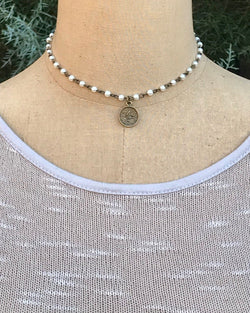 Courtney Coin Necklace Pearl