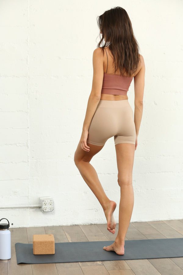 Seamless Mini Shorts Taupe