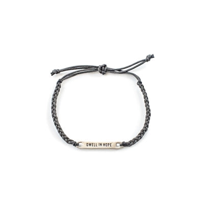 Dwell In Hope Braided Bracelet Slate