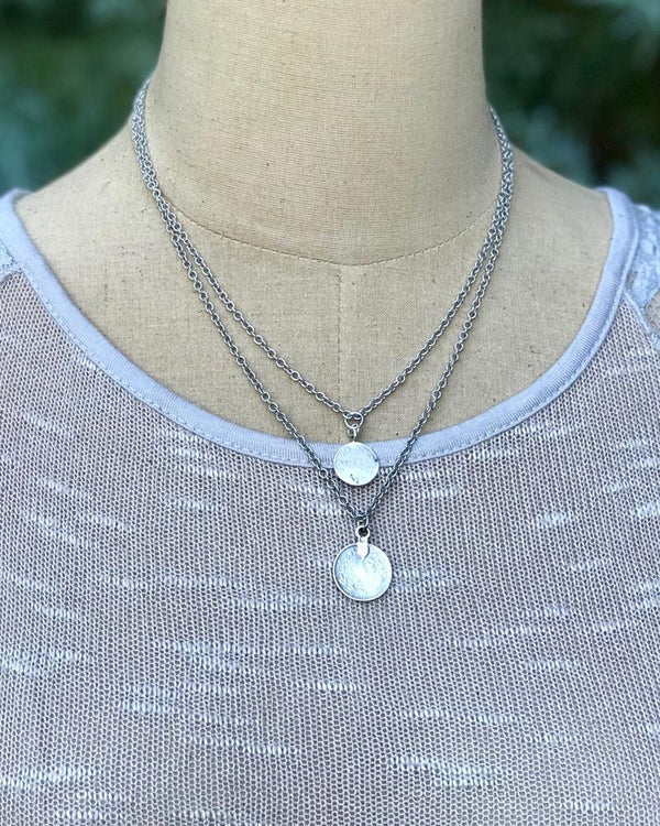 Lizzy Layered Necklace Silver