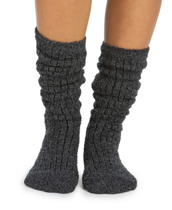 Cozy Chic Ribbed Socks Carbon/Black