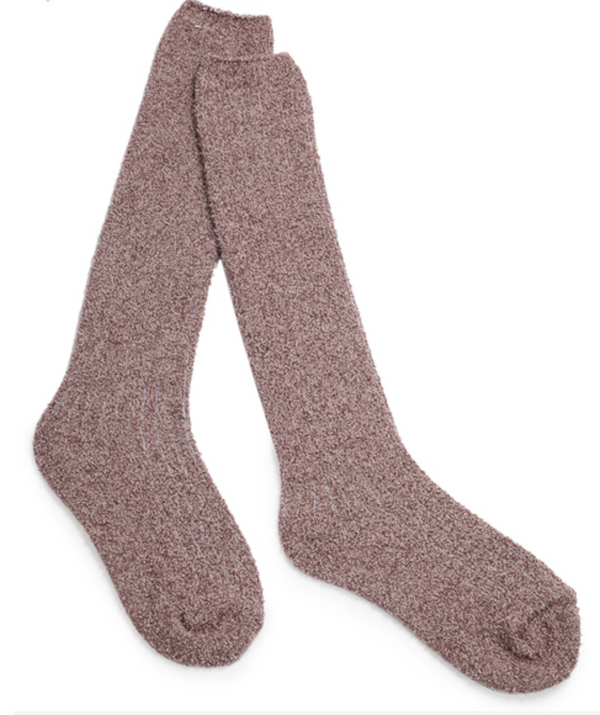Cozy Chic Ribbed Socks Rosewood/Vintage Rose