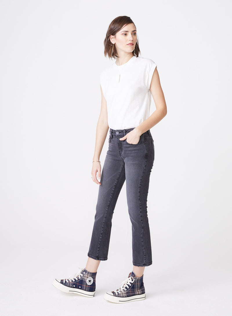 Margaux Cropped Demi Flare Coal