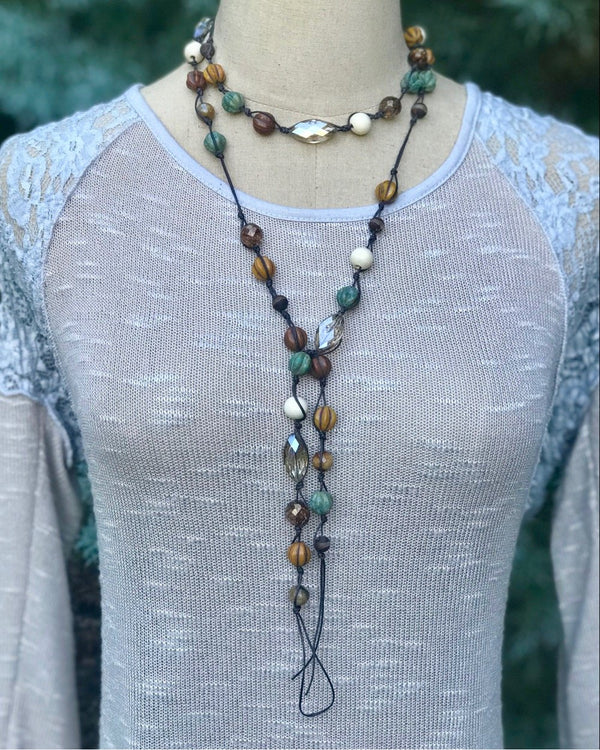 Mixed Up Prayer Beads Pyrite & Pearl