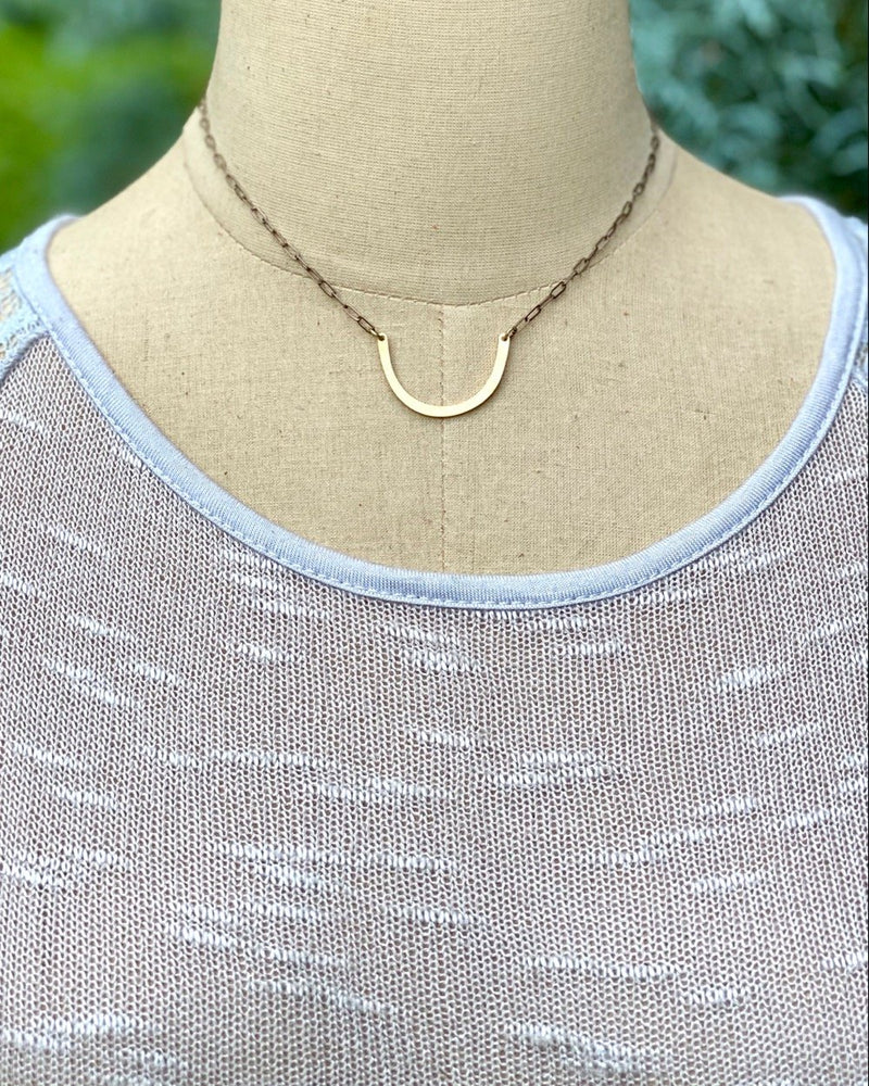 ID Horseshoe Necklace