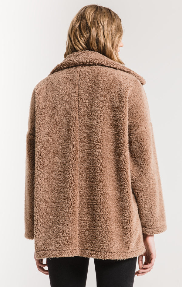 The Sherpa Teddy Bear Coat Toffee