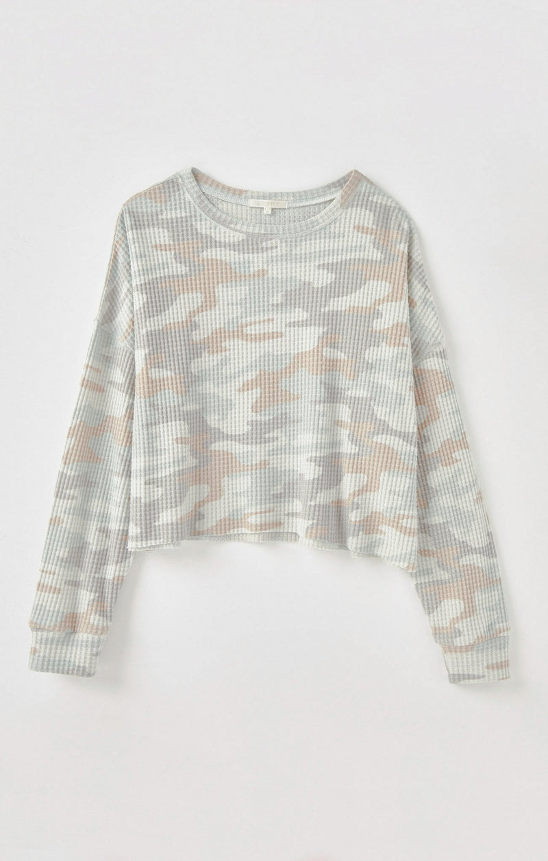 Celine Camo Thermal Top