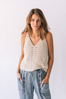 Soft Threads Sweater Tank Vanilla