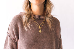 Lizzy Layered Necklace Bright Gold