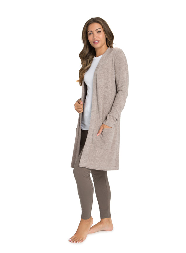 Cozy Chic Lite Santa Monica Cardi Driftwood/Taupe