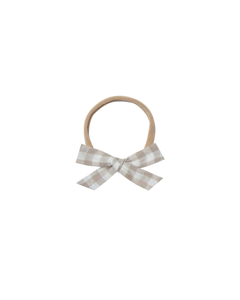 Gingham Bow with Headband (3798516564021)