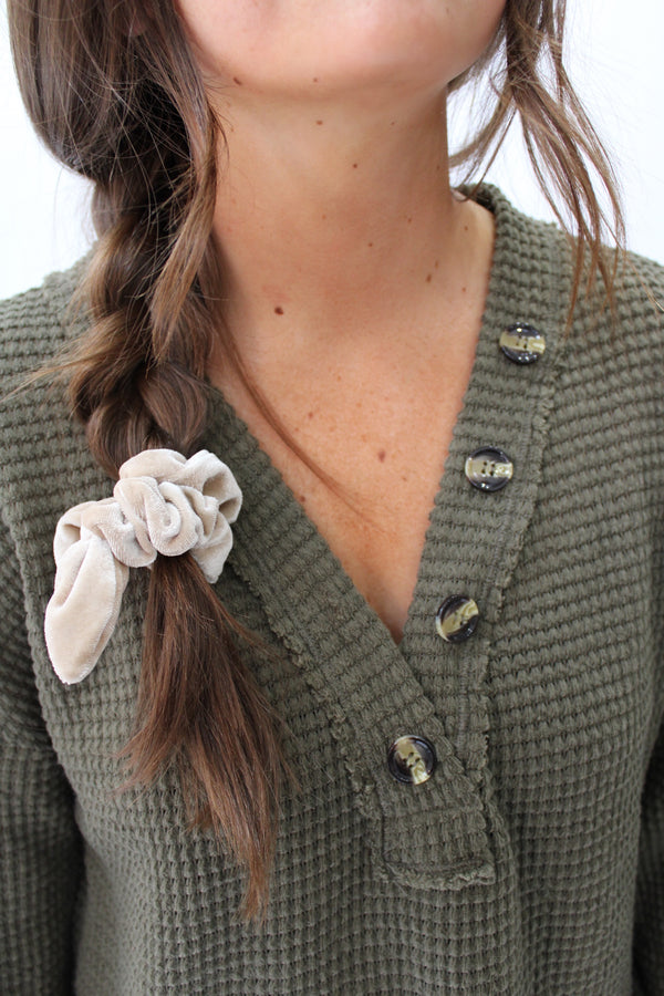 Cozy Central Sweater Olive
