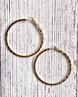 Forged Hoop Earrings Gold