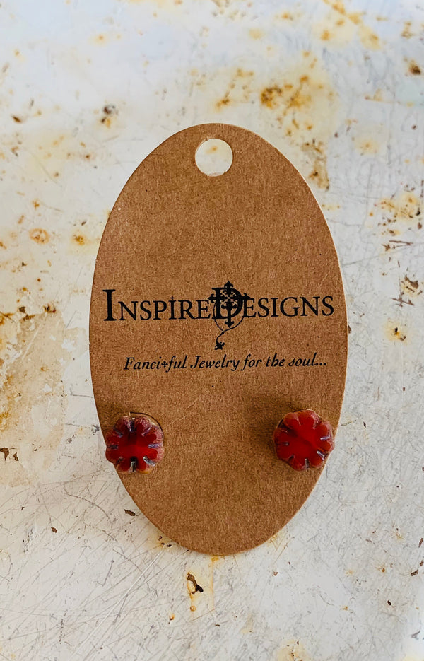 Forget Me Not Earring Red