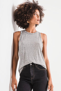 The Triblend Racer Tank Heather Gray (3767712579637)