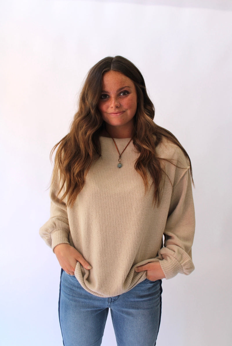 Morning Chill Sweater Taupe
