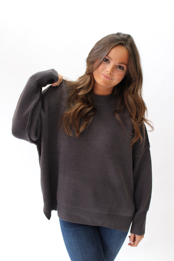Cozy Up Sweater Charcoal