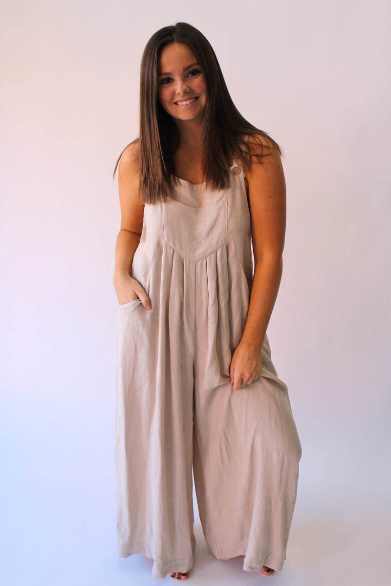 The Zoey Jumpsuit Natural