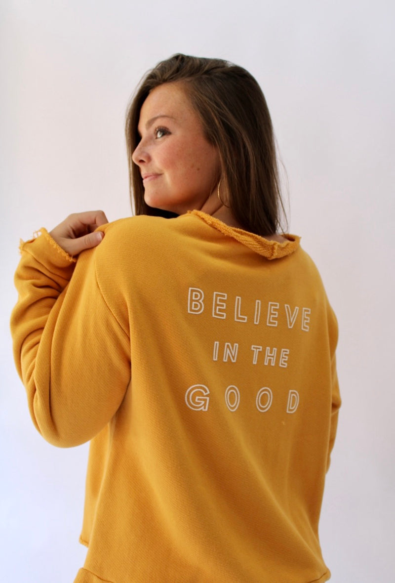 Believe in the Good - The Blaise Sweatshirt Mustard