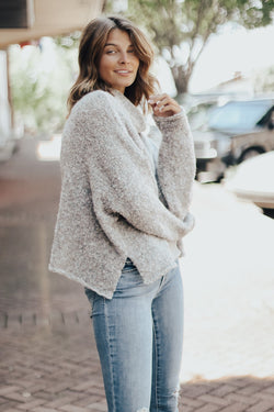 Speckled Cocoon Sweater