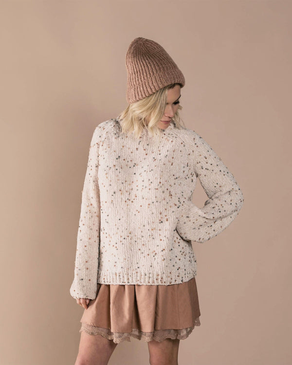 Pom Chenille Sweater Wheat (3801196560437)
