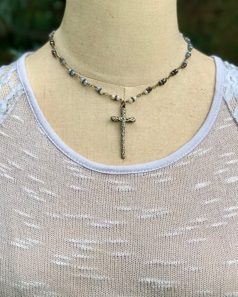 Delightful Charm Necklace Cross
