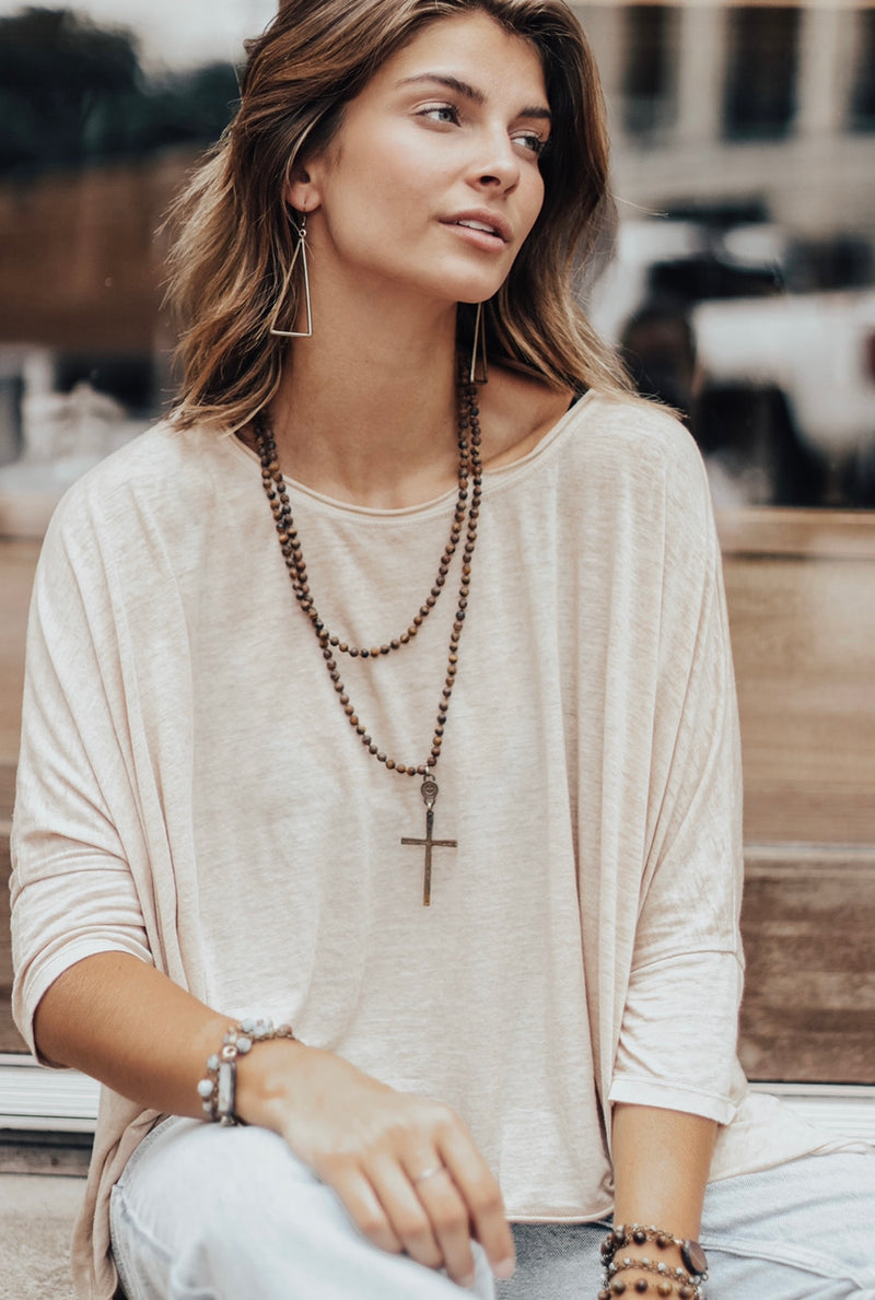 Amazing Grace Necklace Brown