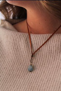 Charmed Blue Stone Necklace