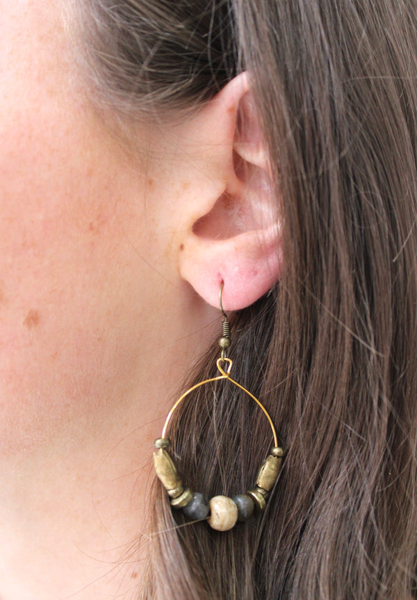 Rock Garden Hoop Earrings