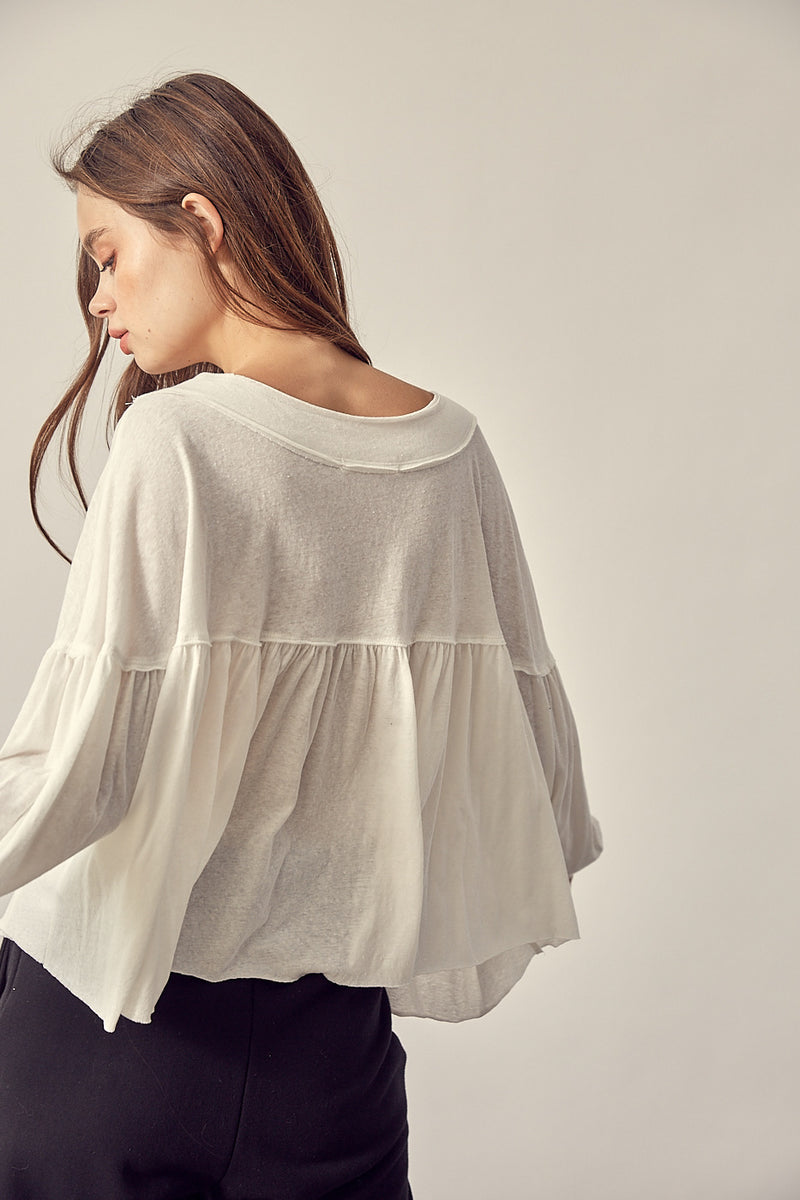 Swing Dance Top Off White