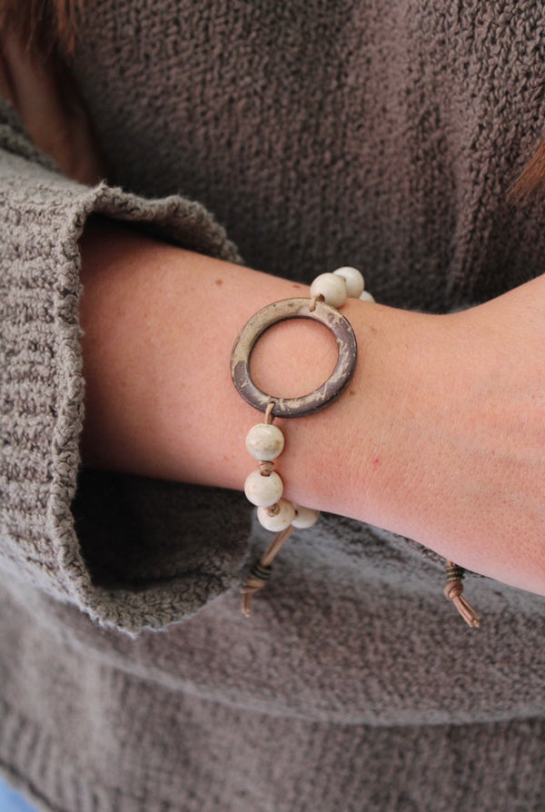 Wooden Tree House Bracelet Ivory