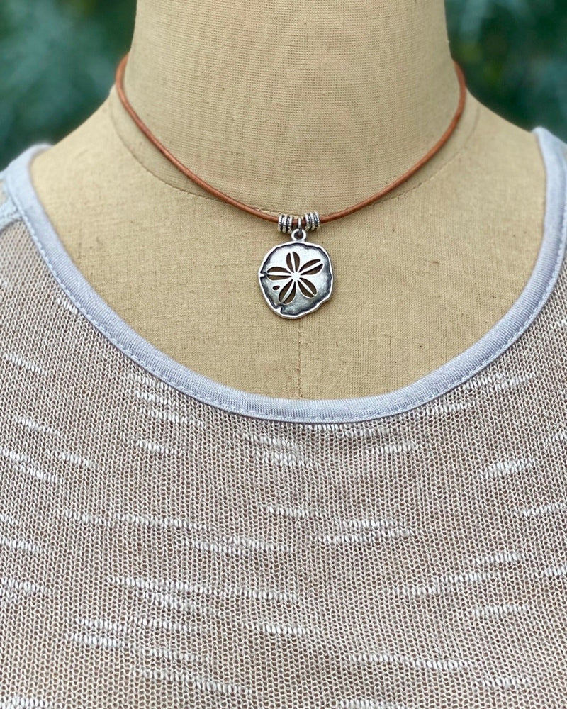 Sand Dollar Necklace Silver